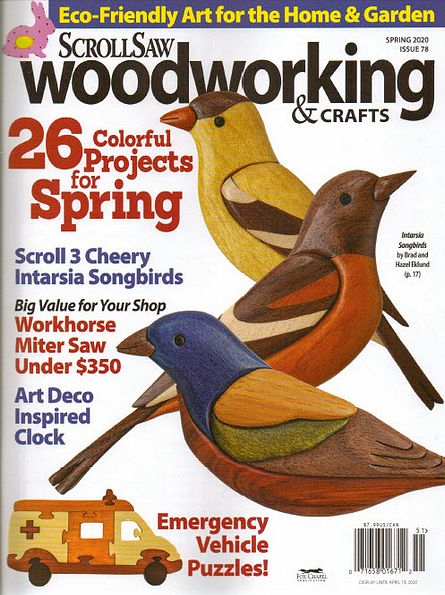 ScrollSaw Woodworking & Crafts №78 (Spring 2020)
