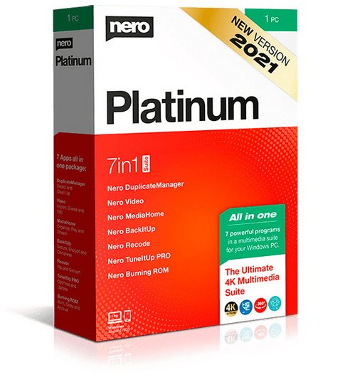 Nero Platinum Suite 2021 23.0.1010 + Content Packs
