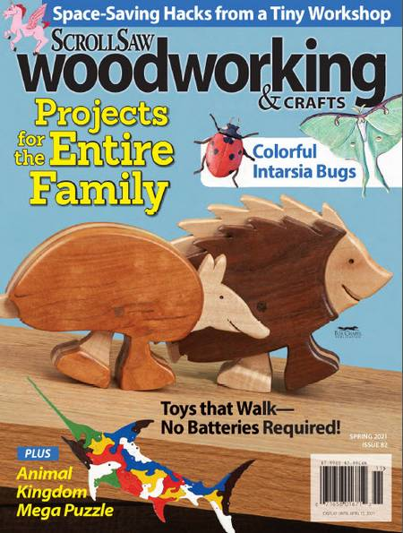ScrollSaw Woodworking & Crafts №82 (Spring 2021)