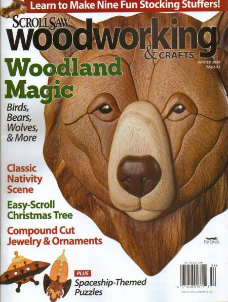 ScrollSaw Woodworking & Crafts №81 (Winter 2020)